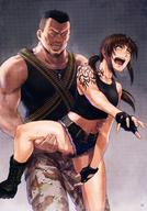 1boy 1girl anger_vein asymmetrical_bangs azasuke bangs belt black_gloves black_lagoon black_shirt blue_shorts boots breasts brown_eyes brown_hair censored clenched_teeth female fingerless_gloves floating_hair gloves green_footwear grey_background hand_on_another's_hip high_resolution jewelry leg_grab long_hair male medium_breasts micro_shorts midriff mosaic_censoring navel necklace open_mouth outstretched_arm ponytail pubic_hair rape revy_(black_lagoon) saliva saliva_trail scan sex shirt short_hair shorts sidelocks sleeveless sleeveless_shirt stomach tattoo teeth tied_hair torn_clothes torn_shorts vaginal very_high_resolution very_long_hair // 1220x1751 // 421.0KB