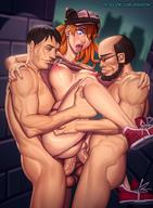 1girls 2boys anal anal_sex anus areolae asuka_langley_sohryu big_breasts breasts double_penetration erect_nipples erection female large_breasts male mikiron neon_genesis_evangelion nipple_piercing nipples penetration penis piercing pussy sex spread_legs straight threesome vaginal_penetration // 1180x1604 // 249.7KB