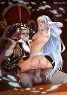 1boy 1girls anus ass atramada1 azura_(fire_emblem) back bare_back bare_legs big_ass blue_hair female fire_emblem fire_emblem_fates garon garon_(fire_emblem) light_blue_hair long_hair looking_at_viewer looking_back nintendo nude nude_female sex straight sweat thighs throne throne_sex vaginal_penetration vaginal_sex very_long_hair yellow_eyes // 1180x1670 // 261.8KB